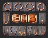 STOCK Bijoux et accessoires bois lot divisible